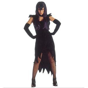 Disfraz dama negra adulto