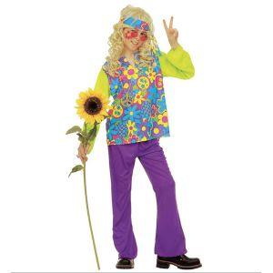 Disfraz hippie niños de 5 a 13 años