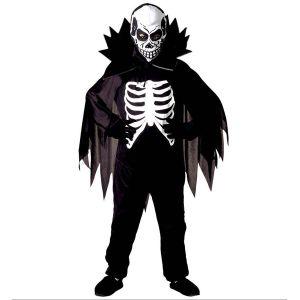 Disfraz esqueleto con capa infantil