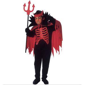 Disfraz demonio con capa infantil