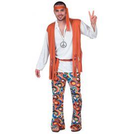 Disfraz hippie chico chaleco