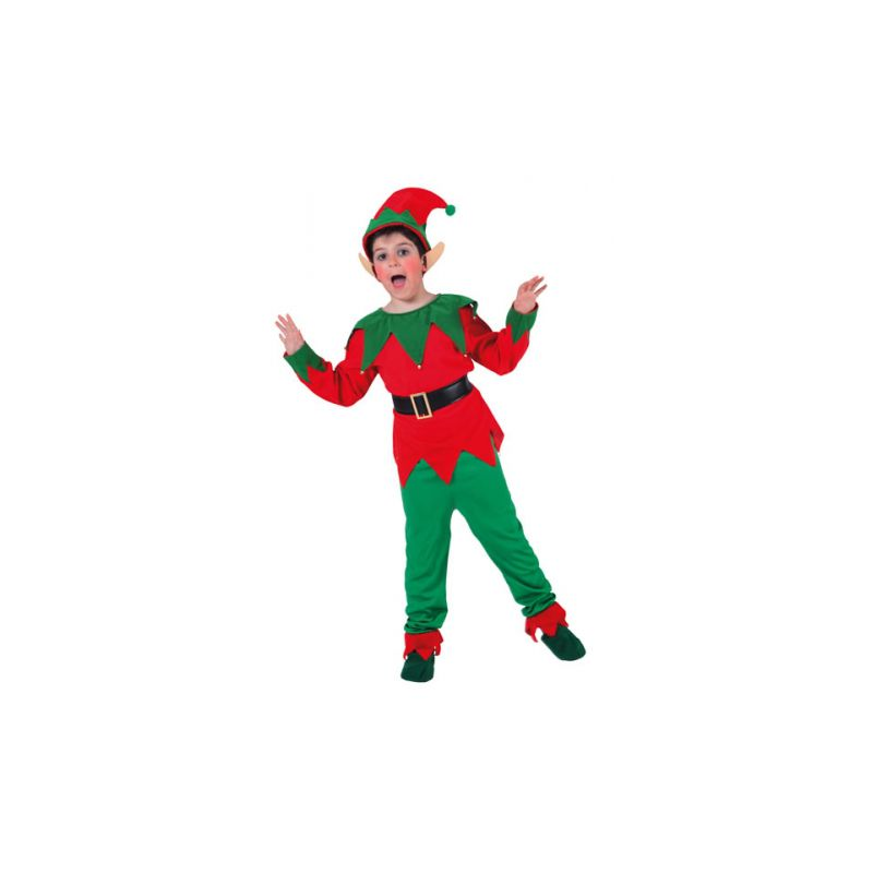 Disfraz elfo duendecillo ni os de 2 a 9 a os - Disfraces de duendes navidenos para ninos ...
