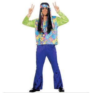 Disfraz hippie hombre deluxe