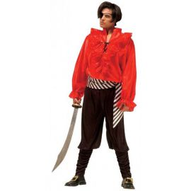 Disfraz pirata rojo adulto