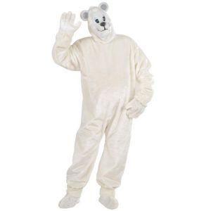 Disfraz oso polar peluche adulto