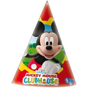 Sombrero cono mickey club house (6 unid)