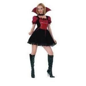 Disfraz vampiresa gotica terciopelo