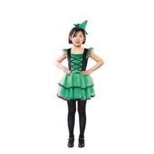 Disfraz bruja verde niñas de 4 a 12 años