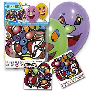 Globos stickers (10 unid)