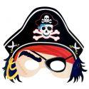 Careta pirata cartón