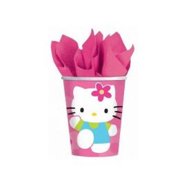 Vasos hello kitty flor