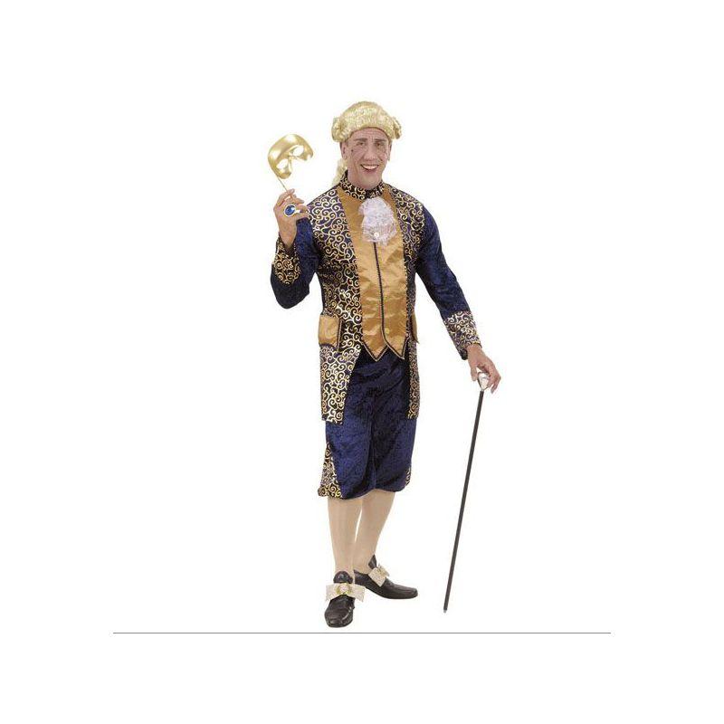 Disfraz marqu s poca azul hombre adulto for Disfraces de epoca