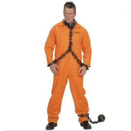 Disfraz preso guantanamo naranja hombre