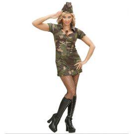 Disfraz militar mujer adulto