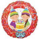 Globo helio musical feliz cumpleaños