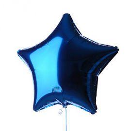 Globo helio estrella azul metal