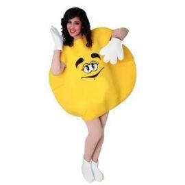 Disfraz caramelo amarillo adulto