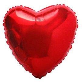 Globo helio corazon rojo