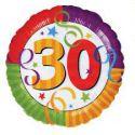 Globo helio 30 años