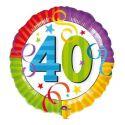 Globo helio 40 años