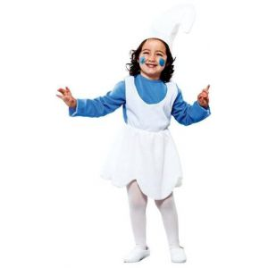 Disfraz enanita azul pitufina de 2 a 9