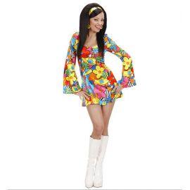 Disfraz hippie chica flower power