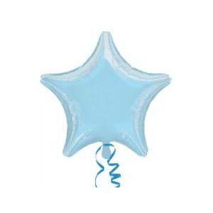 Globo helio estrella azul pastel