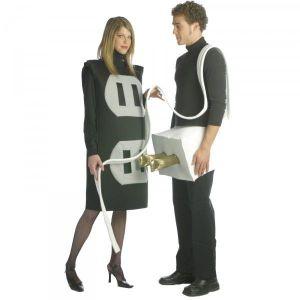 Disfraz enchufe macho hembra 2 en 1