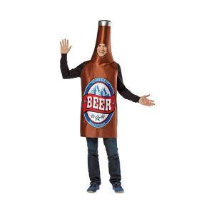 Disfraz botella cerveza adulto