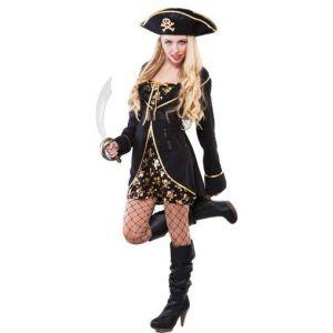 Disfraz piratesa corsaria de la noche