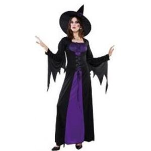 Disfraz bruja purpura