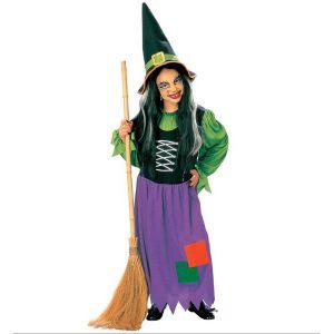 Disfraz de bruja verde infantil de 5 a 13 años