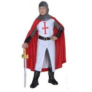 Disfraz cruzado medieval niño