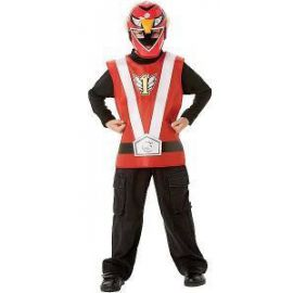 Disfraz power ranger rojo blister
