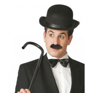Sombrero bombin negro fieltro