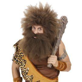 Barba castaña extra grande con bigote