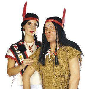 Peluca indio/india adulto