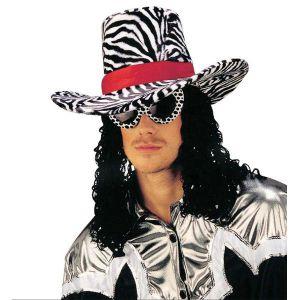 Sombrero funky con pelo