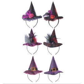 Mini sombrero bruja 6 modelos surt.