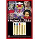 Maquillaje infantil lapiz 5 colores