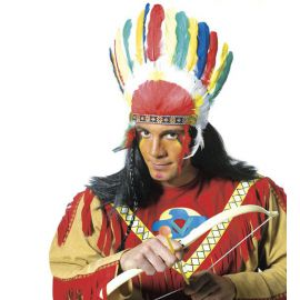 Penacho plumas indio sencillo
