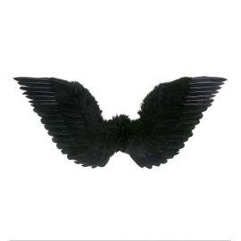Alas plumas negras 75x31 cm
