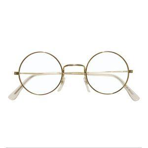 Gafas doradas redondas