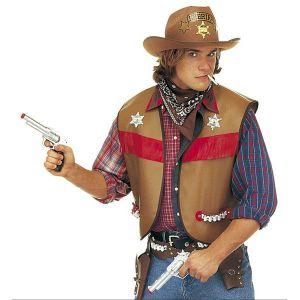 Chaleco vaquero adulto