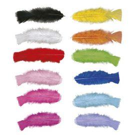 Plumas de colores (pack 50 uni)