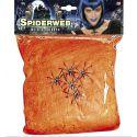 Tela de araña 100 gr. naranja