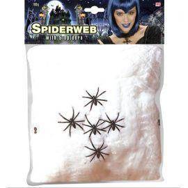 Tela de araña 100 gr. blanca
