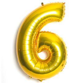 Globo helio numero 6 oro