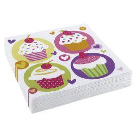 Servilletas cupcake 20 und