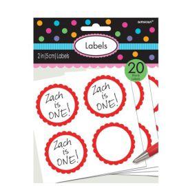 Pegatinas para personalizar rojas 20 und